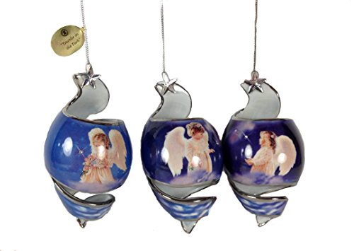 Retired Thomas Kinkade *Starlight Blessings* 3rd in Series Set of 3 Porcelain Assorted Ornaments