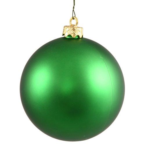 Vickerman Shatterproof Christmas Matte Ball Ornaments, 32 per Box, 3″, Green