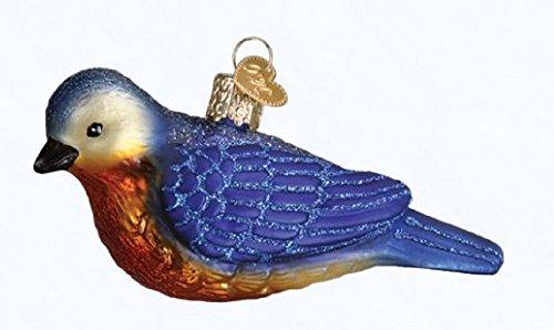 Old World Christmas Western Bluebird Glass Blown Ornament