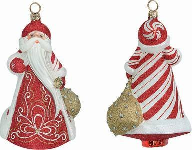 Joy to the World – Glitterazzi Peppermint Twist – Blown Glass Ornament