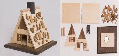 Do it Yourself Kit Gingerbreadhouse Wooden German Christmas Incense Smoker