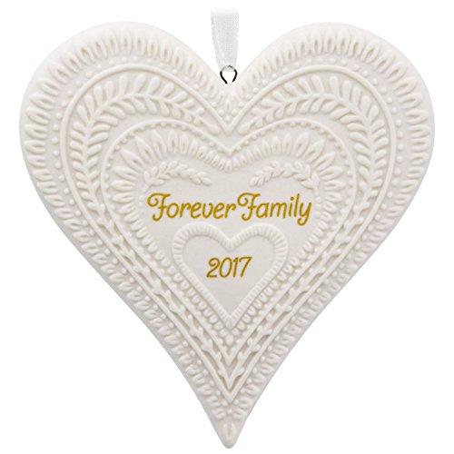 Hallmark Keepsake 2017 Forever Family Porcelain Dated Christmas Ornament