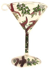 Lolita Martini Glass Christmas Ornament Kiss Me
