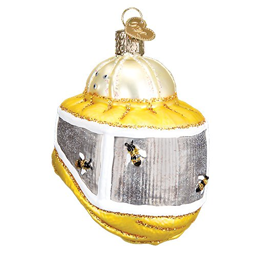 Old World Christmas Bee Collection Glass Blown Ornament (Bee Keeper Hood)