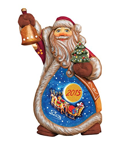 G. Debrekht Celebration Santa Ornament, 5″