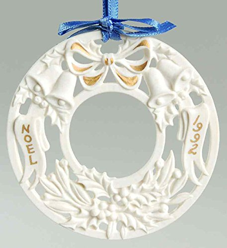 "Wedgwood White Jasper 1992 Christmas Ornament ""Noel"""