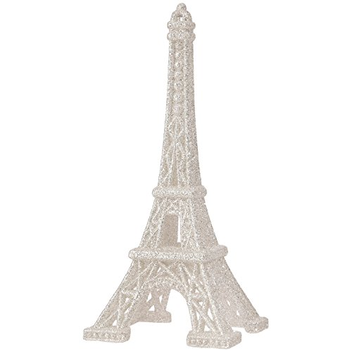 RAZ Imports – 6 Inch Eiffel Tower Figurine Christmas Tree Ornament (Silver)