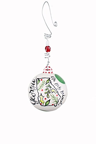 Glory Haus 20100126 Georgia on My Mind Ball Ornament, Multicolor
