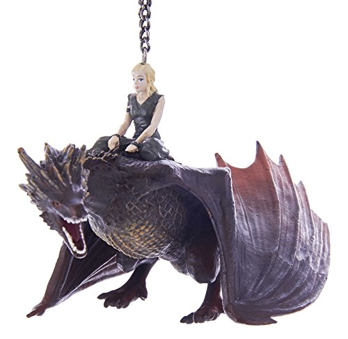Kurt Adler Kurt S. Adler 5″ Game of Thrones Daenerys with Dragon Ornament