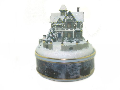 "Thomas Kinkade ""Victorian Christmas"" Porcelain Illuminated Music Box 2002"
