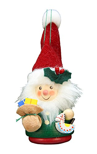 Alexander Taron Christian Ulbricht Green Santa Decorative Hanging Ornament