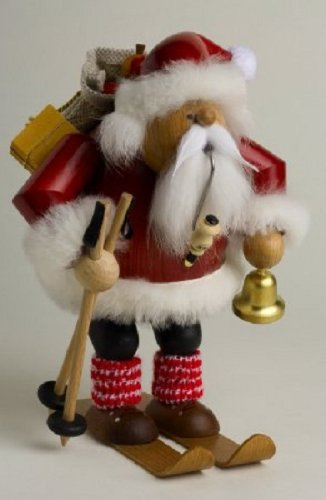 KWO Skiing Santa Claus German Christmas decor