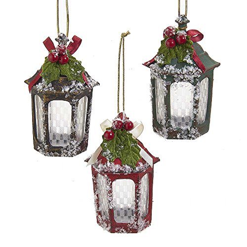 Kurt Adler YAMJ6039 Lantern Ornament Set of 3