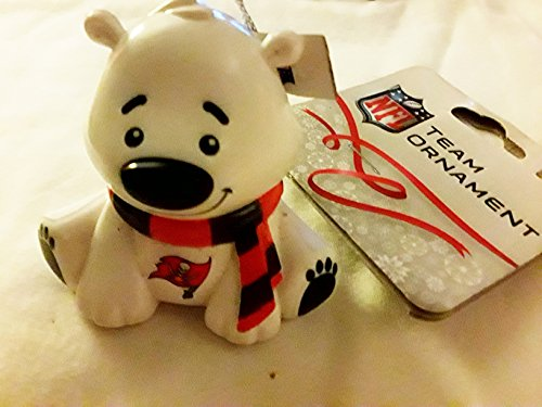 FOREVER COLLECTIBLE NFL TAMPA BAY BUCCANEERS POLAR BEAR CUB ORNAMENT