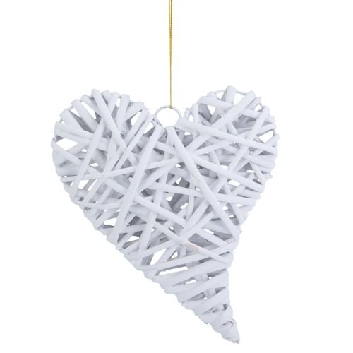 Beachcombers Large Wicker Heart Ornament