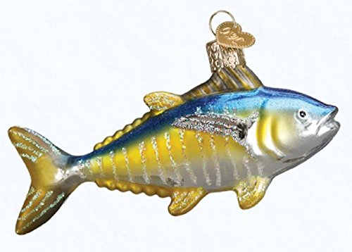 Old World Christmas Yellowfin Tuna Glass Blown Ornament