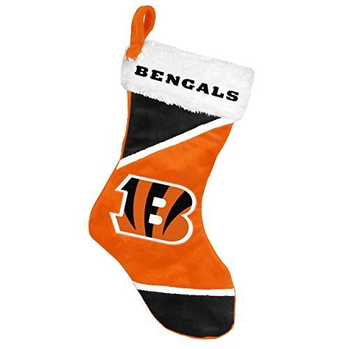 2014 NFL Football Team Logo Colorblock Holiday Stocking (Cincinnati Bengals)