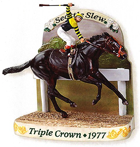 Carlton Heirloom Seattle Slew Race Horse Christmas Ornament #CXOR-137R