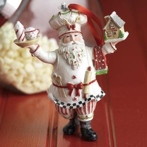 VIPASNAM-NEW Raz 6″ Pastry Baker Santa Christmas Gingerbread Ornament 3707026