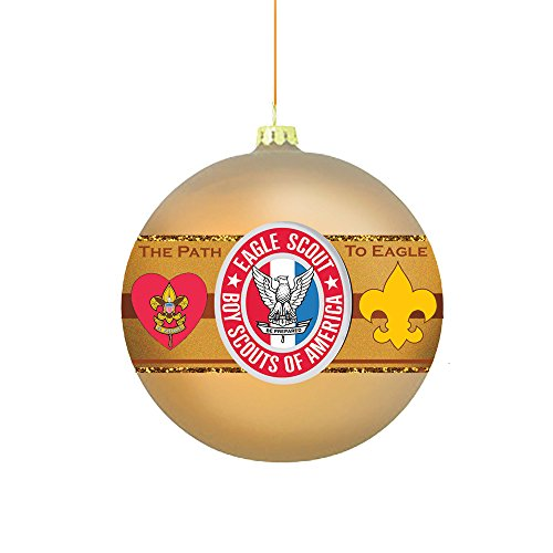 Kurt Adler Kurt S. Adler Boy America Path to Eagle Scout 80MM Glass Ball Ornament