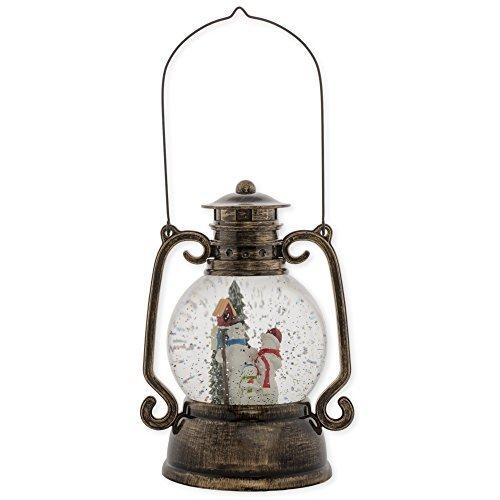 Roman, Inc. 11″ Snowman Lantern Glitter Dome (30200)