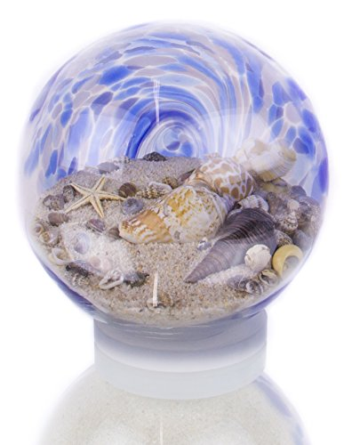 Handcrafted Blue Water Sandglobe, Large