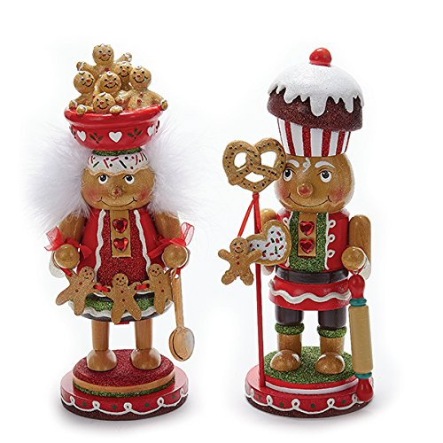 Kurt Adler 1 Set 2 Assorted Gingerbread Hollywood 11 Inch Nutcracker