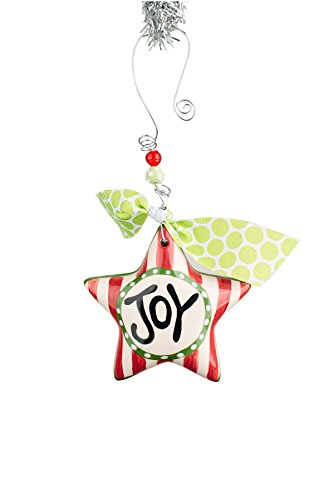 Glory Haus Joy Star Puff Ornament, 4″ x 4″, Multicolor