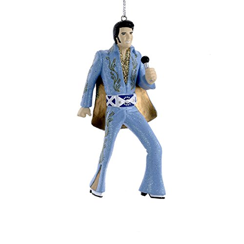 Kurt Adler Elvis in Blue Suit Blow Mold Ornament