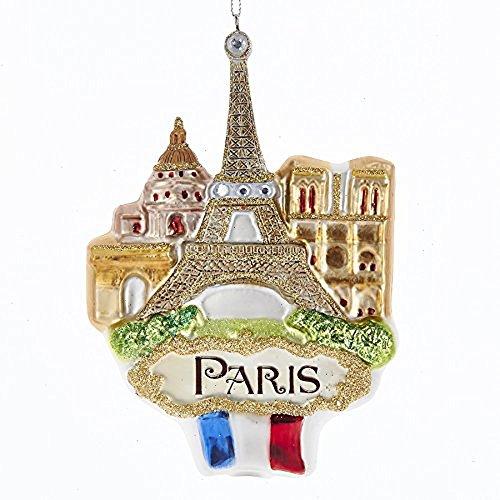Kurt Adler Glass Paris Landmark Ornament