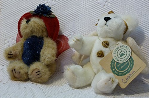 Boyds Bears Lot of 2 Angels 6 Inch Ornaments: Flutter Flowerflit and Cassie