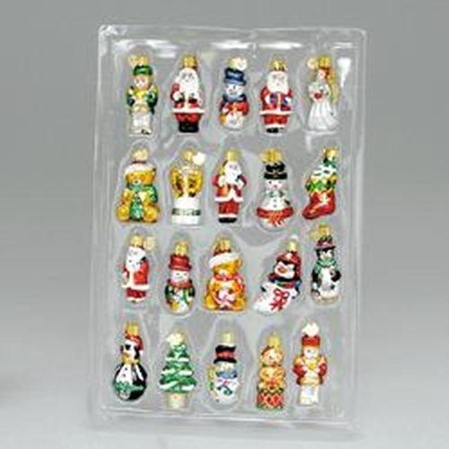 Kurt Adler 20-Piece Petite Treasures Glass Ornament Set