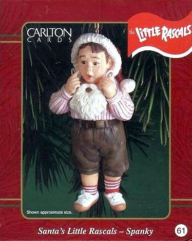 Little Rascals – Our Gang – Spanky – Santa's Little Rascals 2000 Carlton Cards Christmas Ornament