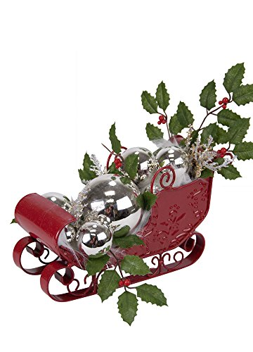 The Carolers Byers' Choice Sleigh with Silver Balls #ZMS280S LIMITED EDITION
