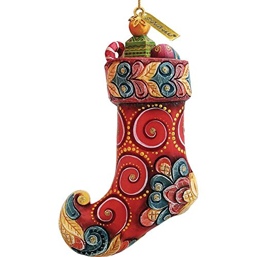 G.DeBrekht Red Stocking Ornament