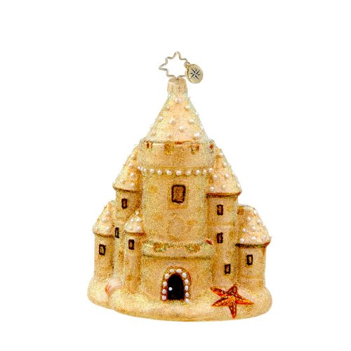 Christopher Radko Sandcastle Shimmer Christmas Ornament – EXCLUSIVE