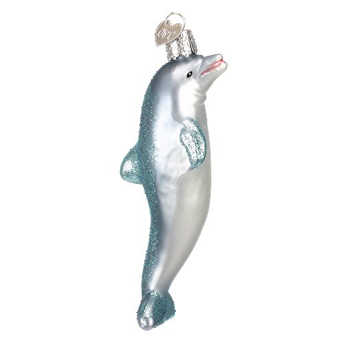 Old World Christmas Ocean Friends Glass Blown Ornament (Dolphin)