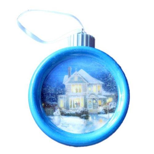 Thomas Kinkade Light Up Christmas Ornament Victorian House Holiday Cheer