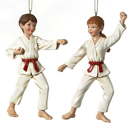 5 25″ POLYRESIN KARATE ORNAMENT, SET OF 2 ASSORTED – Christmas Ornament
