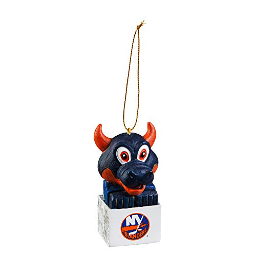 Team Sports America New York Islanders Team Tiki Totem Mascot Ornament
