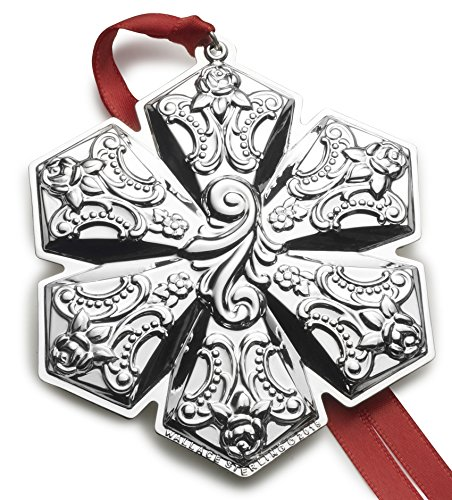 Wallace Sterling Silver Christmas Holiday Ornament, 2018 Grand Baroque Snowflake Ornament