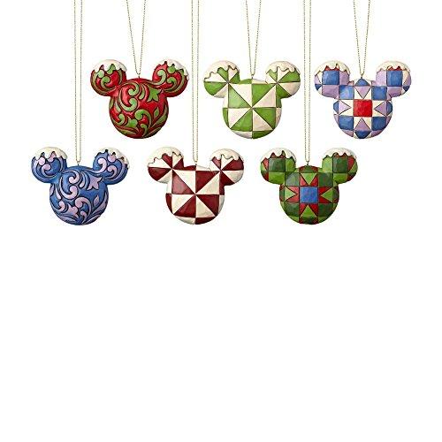 Enesco Disney Traditions Mickey Head Ornament Set