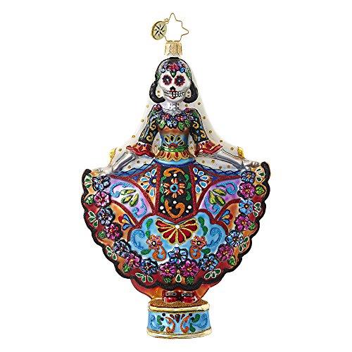 Christopher Radko Radko Corpse Bride La Novia Muerta Glass Ornament Made in Poland Day Of The Dead