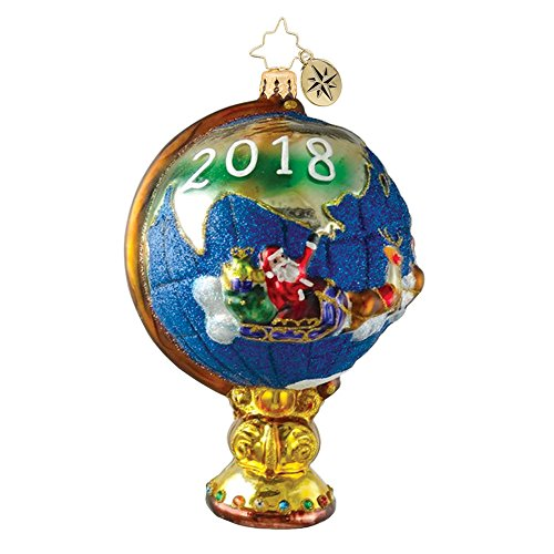 Christopher Radko Charting the Course Santa 2018 Dated Christmas Ornament – EXCLUSIVE
