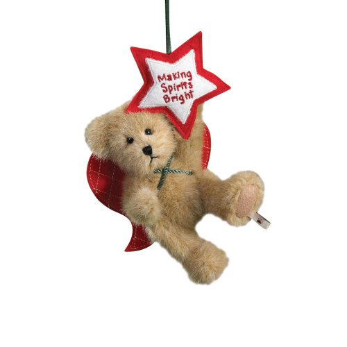Boyd's Bears by Enesco Collectible Starry Plush Holiday Sentiment Ornament
