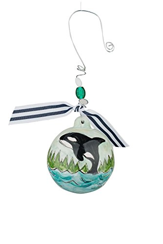 Glory Haus Orca Whale Christmas Ball Ornament, Multicolor