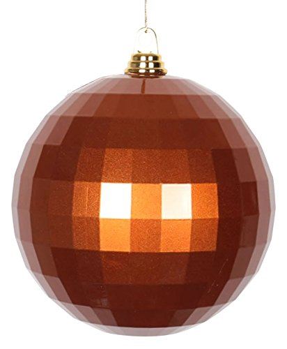 Vickerman Candy Finish Shatterproof Mirror Ball Christmas Ornament, 1 per Bag, 8″, Copper