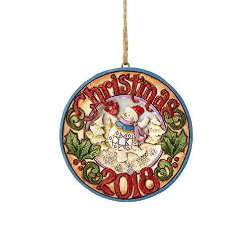 Enesco 6001500 Dated 2018 Snowman Ornament, Multicolor
