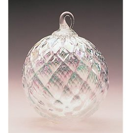 Glass Eye Studio Classic Clear Diamond Ornament
