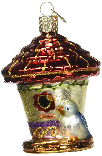 Old World Christmas Charming Birdhouse Glass Blown Ornament